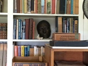 A life mask of Carl Sandburg