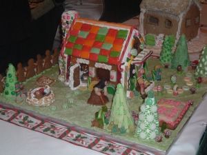 My children's Hansel and Gretel gingerbread house, November 2006