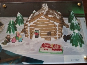 Little House in the Big Woods gingerbread cabin (November 2002)